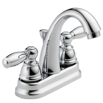 Peerless P299696lf Two Traditional Handle J Spout