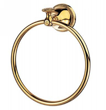 Pegasus B3650200PBV Series 5000 Towel Ring in Polished Brass