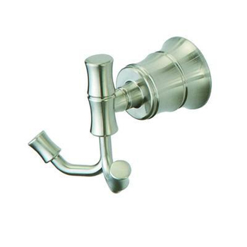 Pegasus 581B-2204 Bamboo Double Robe Hook Brushed Nickel