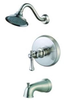 Pegasus 873-5104 Verdanza Single Handle Tub and Shower - Brushed Nickel