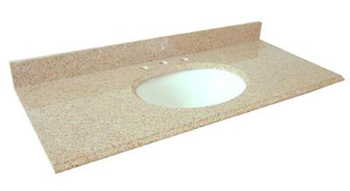 Pegasus 61682 Beige 61 x 22 Granite Vanity Top With White Bowl