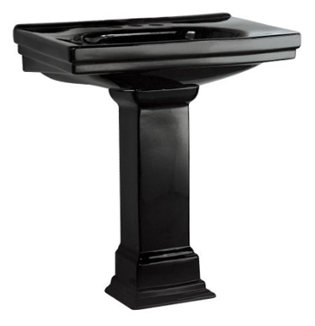 Pegasus FL-1950-4BK Structure Pedestal Lavatory Combo 4 Inch Center Set in Black