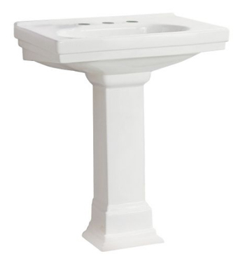 Pegasus FL-1950-8WH Structure Pedestal Lavatory 8 Inch Center Set in White