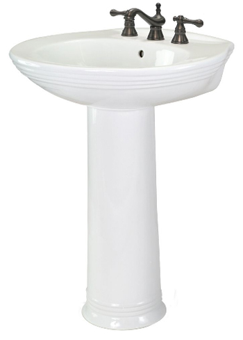 Pegasus FL-2630-8W Aden Lavatory Pedestal Sink 8