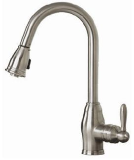 Pegasus FP0A5013BNV Newbury Pull Down Single Handle Kitchen Faucet - Brushed Nickel