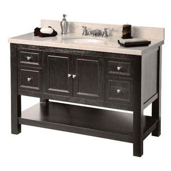 Foremost GAEA4822D Gazette 48? Vanity Cabinet Only - Espresso