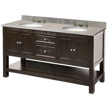 Foremost GAEA6022D Gazette 60? Vanity Cabinet Only - Espresso