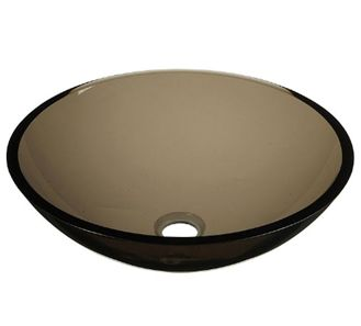 Pegasus GV-101-BN Tinted Glass Vessel Sink in Brown