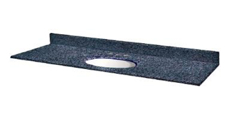 Pegasus 37905 37 x 22 Granite Vanity Top With White Bowl - Blue Pearl