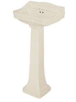 Pegasus L-1920-BI Series 1920 Vitreous China Pedestal Lavatory Leg in Biscuit