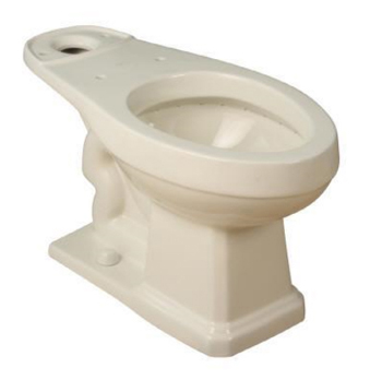 Pegasus LL-1930-BI 1930 Series Vitreous China Round Toilet Bowl - Biscuit