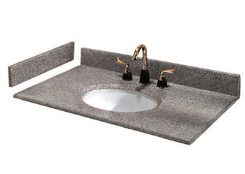 Pegasus 37603 37 x 22 Napoli Granite Vanity Top With White Bow