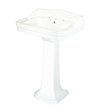 Pegasus F-1930-8W 1930 Series Pedestal Basin Only - White