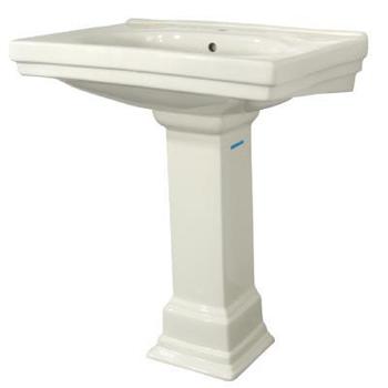 Pegasus Pedestal Sink : Pegasus F-1950-S-BI Series 1950 Structure Suite Pedestal Lavatory Sink ...