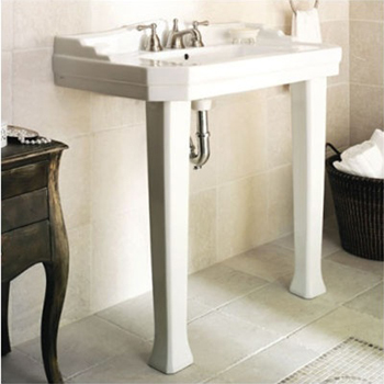 Pegasus FL-1900-8BI 1900 Series Console Sink Combo in Biscuit (Pictured in White)