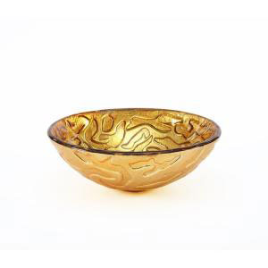 Pegasus PEGVS-181-SKF Coral Pattern Above Counter Vessel Bathroom Sink - Bronze