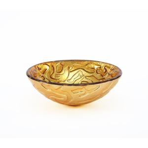 Pegasus PEGVS-COR-GLD Coral Pattern Above Counter Vessel Bathroom Sink - Gold