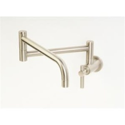 Pegasus PPC100-BN Contemporary Wall Mount Pot Filler in Brushed Nickel