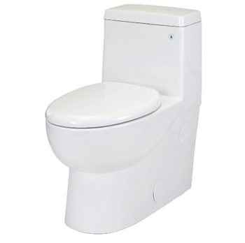 Pegasus TL-10PA-HET-EW Matera One Piece All-in-One HET Toilet Elongated Comfort Height in White