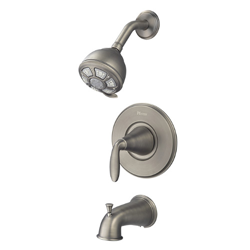 Pfister 8P8-WSPDSL Pasadena Single Handle Tub & Shower Combo - Slate