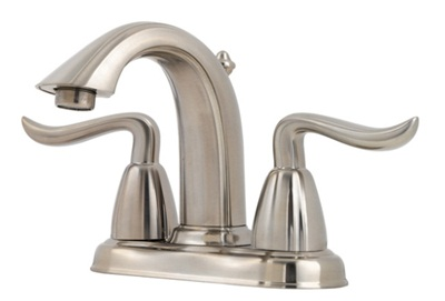 Price Pfister F048-ST0K Santiago Lavatory Centerset Faucet - Brushed Nickel