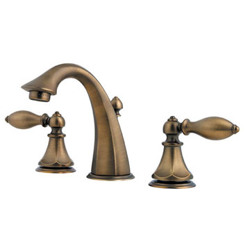 Pfister F-049-E0BV Catalina 3-Hole Double Handle Widespread Lavatory Faucet - Velvet Aged Bronze