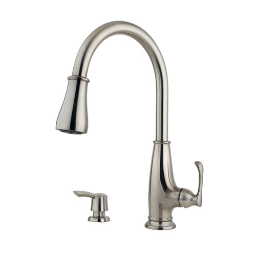 Pfister F-529-7AYS Ainsley Single Handle High Arc Pull Down Kitchen Faucet - Stainless Steel