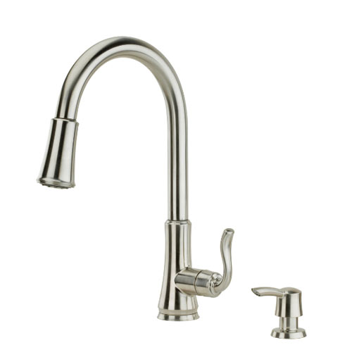 Pfister F-529-7CGS Cagney Single Handle Pulldown Kitchen Faucet - Stainless Steel