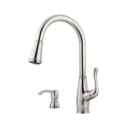 Pfister F-529-7SWS Sedgwick Single Handle Pulldown Kitchen Faucet - Stainless Steel