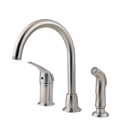 Pfister F-WK1-680S Cagney Single Handle Kitchen Faucet with Sidespray - Stainless Steel