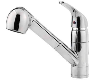 Price Pfister 13310CC Pfirst Series Pullout Spray Professional Kitchen Faucet - Polished Chrome