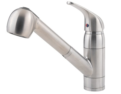 Price Pfister 133-10SS Pfirst Series Pullout Spray Professional Kitchen Faucet - Stainless Steel