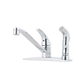 Pfister G134-3444 Pfirst Single Lever Kitchen Faucet with Integrated Side Spray - Polished Chrome