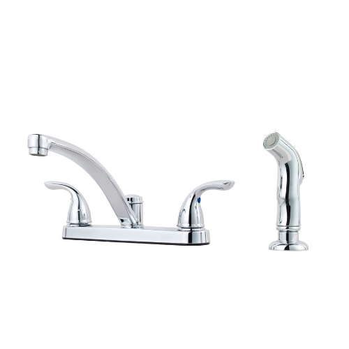Pfister G135-8000 Pfirst Series Two Handle Kitchen Faucet with Side Spray - Chrome