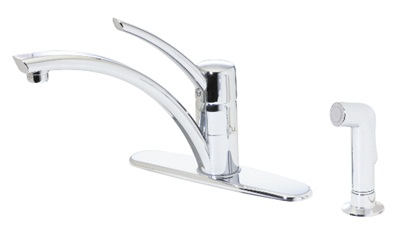 Price Pfister GT344NCC Parisa 4-Hole Single Handle Kitchen Faucet - Polished Chrome