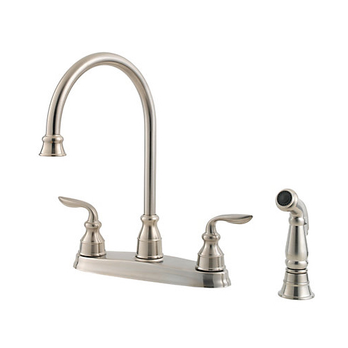 Pfister GT36-4CBS Avalon Two Handle  Kitchen Faucet with Matching Sidespray Stainless Steel