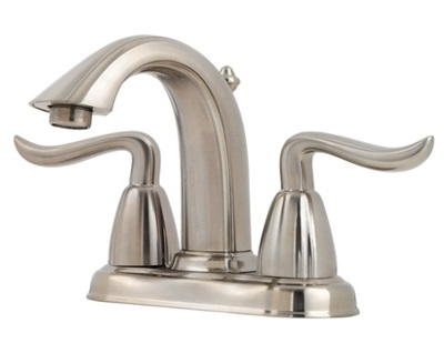 Price Pfister GT48-ST0K Santiago Lavatory Centerset Faucet - Brushed Nickel