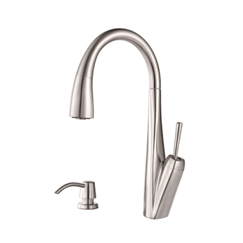 Pfister GT529-MPS Zuri Single Handle Pulldown Kitchen Faucet - Stainless Steel