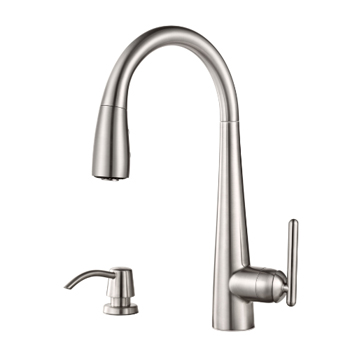 Pfister GT529-SMS Lita Single Handle Pulldown Kitchen Faucet - Stainless Steel