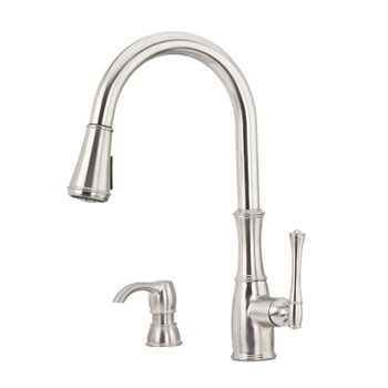 Pfister GT529-WHS Wheaton Pull-Down Kitchen Faucet - Stainless Steel
