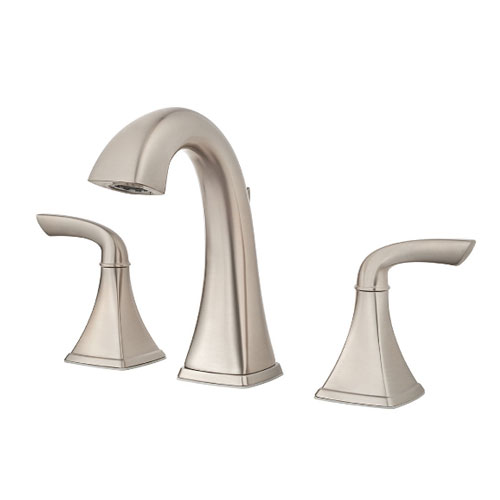 Pfister LG49-BS0K Bronson Two Handle Widespread Bath Faucet - Brushed Nickel