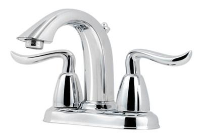 Price Pfister F048-ST0C Santiago Lavatory Centerset Faucet - Polished Chrome