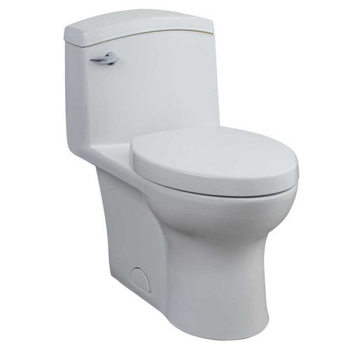 Porcher 97320-60 Veneto 1.6 GPF One-Piece Elongated Toilet with Seat - White