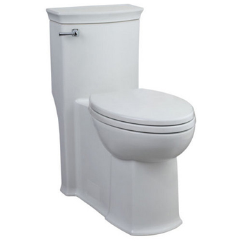 Porcher 97820-60 Chapeau 1.6 GPF One-Piece Elongated Toilet with Seat - White