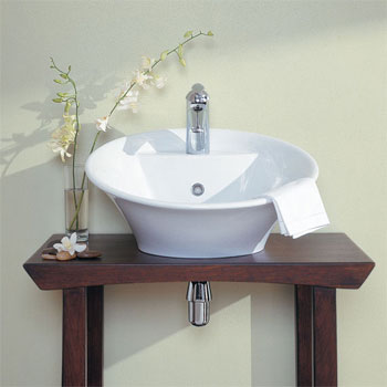 Porcher 06381-00.001 Crescendo Above-Counter Lavatory Basin White