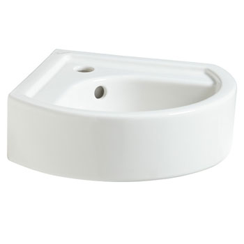 Porcher 26030-00.001 Porcher Solutions Corner Wall Mounted Lavatory Basin - White