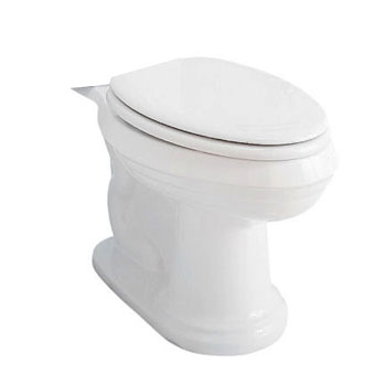 Porcher 40200-00 Archive Elongated Toilet Bowl Only - White