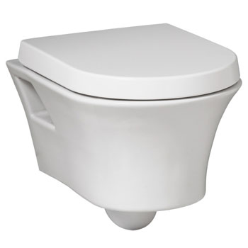 Porcher 47010-11.001 Porcher Solutions Wall Hung Bowl with Seat Only - White