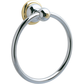 Price Pfister BRB-B0CB Georgetown Towel Ring Chrome/Polished Brass