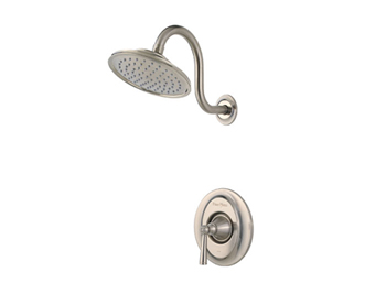 Price Pfister R89-7GLK Saxton Single Handle Shower Trim Brushed Nickel